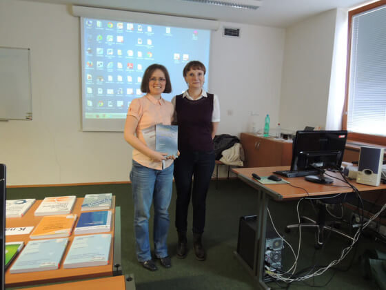 S paní Čapkovou, zaměstnankyní ÚPV, během školení.