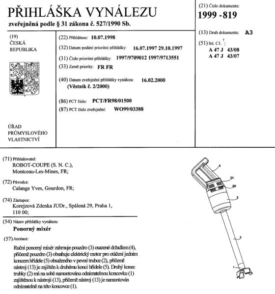 V detailu vynálezu/patentu v databázi ÚPV najdete jeho kompletní specifikaci.